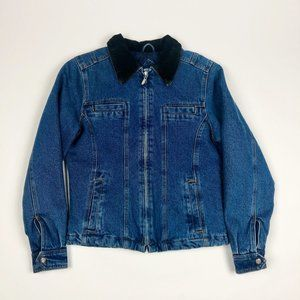 VINTAGE Static Insulated Denim Jacket. Size Small.